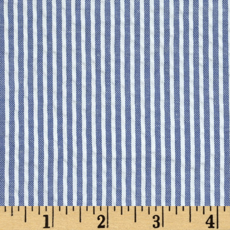 Regatta Seersucker Blue Fabric