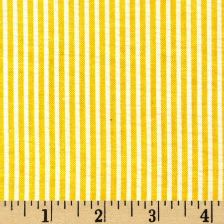 Regatta Seersucker Yellow Fabric By The Yard