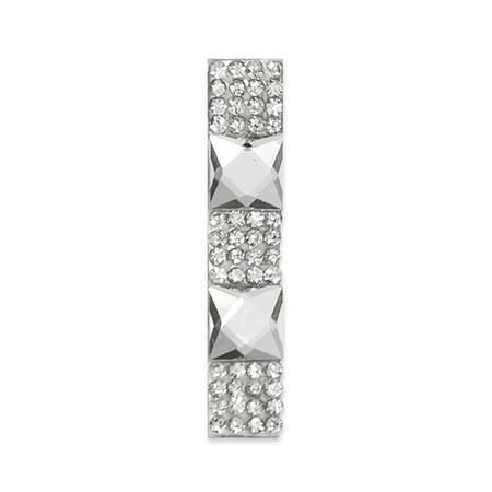 Rhinestone Applique Number 1 2 1/4 x 1 3/4'' Crystal