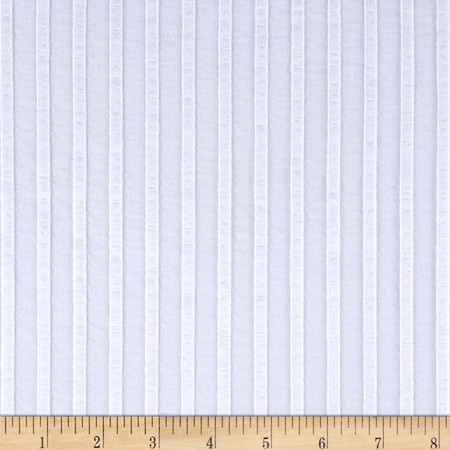 Rib Knit Stripe White Fabric By The Yard