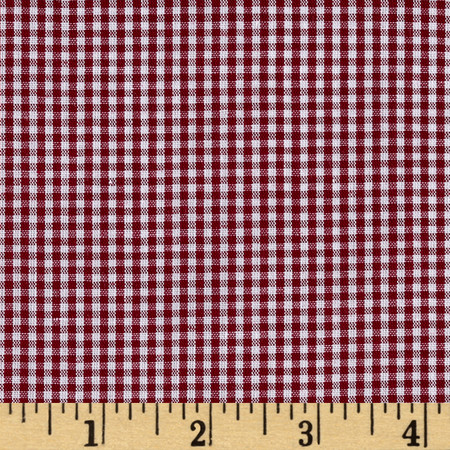 Richcheck 60'' Gingham Check 1/16'' Berry Fabric By The Yard