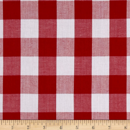 Richcheck 60'' Gingham Check 1'' Red Fabric By The Yard