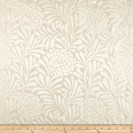 Richloom Bosworth Satin Jacquard Snow Fabric