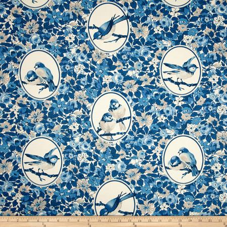 Richloom Budgie Twill Bluebird Fabric