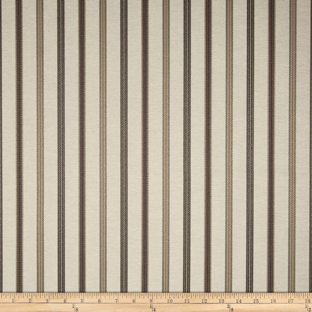 Richloom Dimitrios Jacquard Stripe Charcoal Fabric