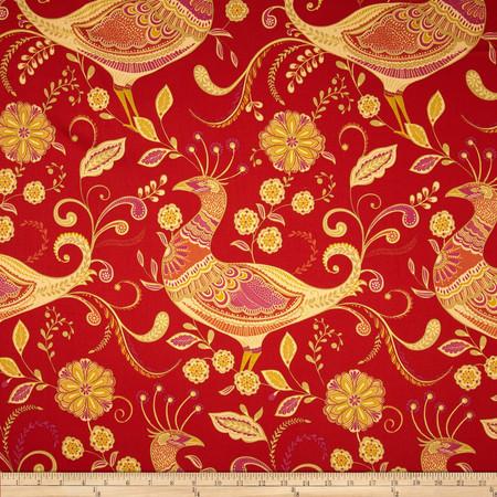 Richloom Fantasy Twill India Red Fabric