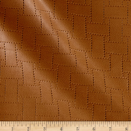 Richloom Faux Leather Garvin Patchwork Clay Fabric