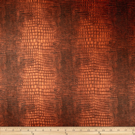 Richloom Faux Leather Reptile Saddle Fabric By The Yard