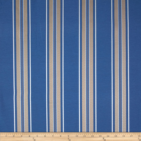 Richloom Gregory Stripe Jacquard French  Blue Fabric