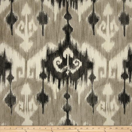 Richloom Ikat Marlena Graphite Fabric By The Yard