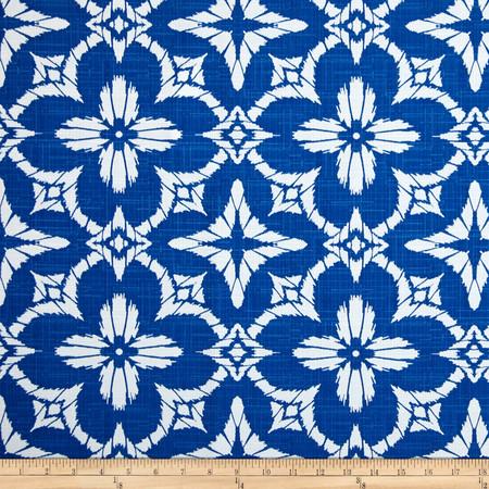 Richloom Indoor/Outdoor Aspidoras Cobalt Fabric By The Yard