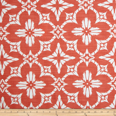 Richloom Indoor/Outdoor Aspidoras Coral Fabric By The Yard