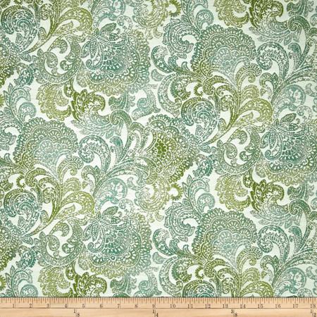 Richloom Indoor/Outdoor Bocachia Jacquard Seaspray Fabric