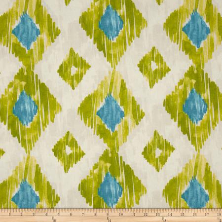Richloom Kashan Ikat Kiwi Fabric