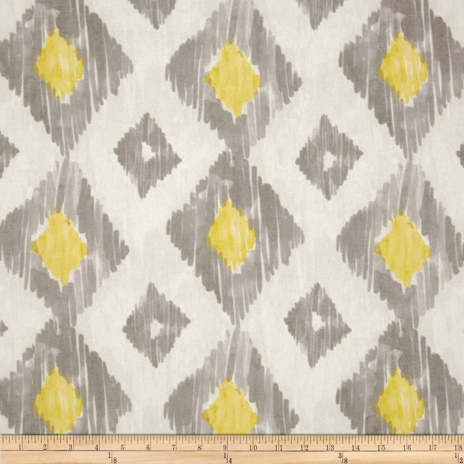 Richloom Kashan Ikat Lemongrass Fabric