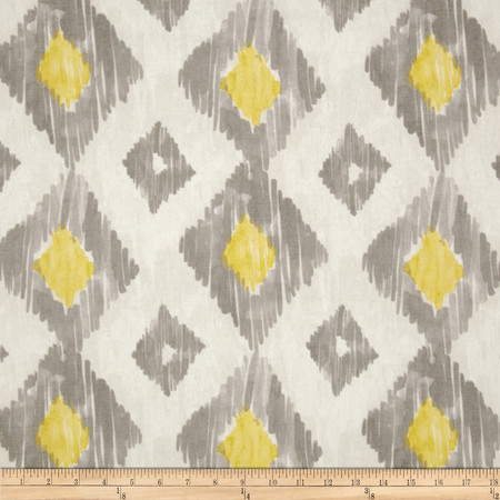 Richloom Kashan Ikat Lemongrass Fabric