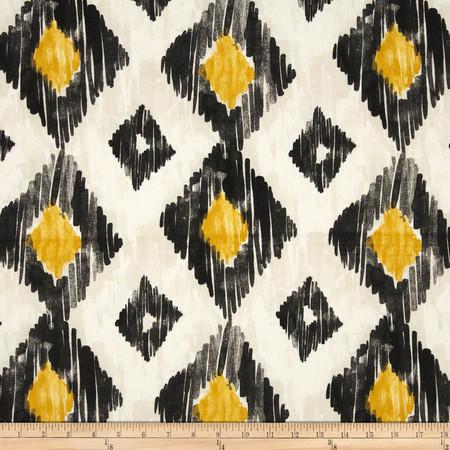 Richloom Kashan Ikat Licorice Fabric