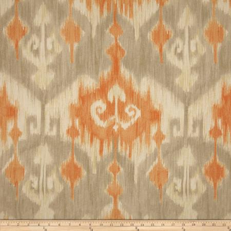 Richloom Marlena Ikat Orange Fabric By The Yard