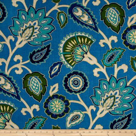 Richloom Myanmar Linen Blend Ocean Fabric