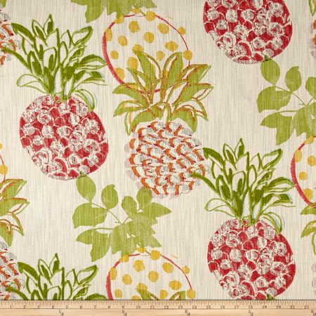 Richloom Pineapples Fiesta Fabric By The Yard