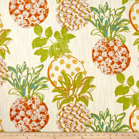 Richloom Pineapples Grove Fabric By The Yard