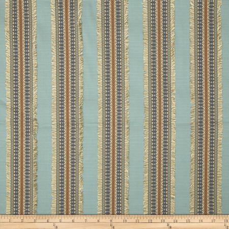 Richloom Ribbon Stripe Ottoman Blue Fabric