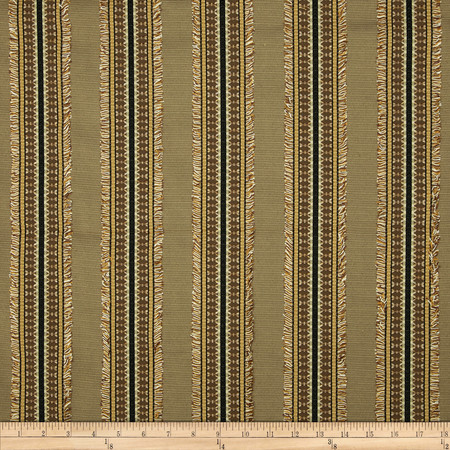 Richloom Ribbon Stripe Ottoman Taupe Fabric