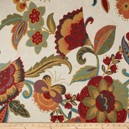 Richloom Society Upholstery Jacquard Blossom Fabric