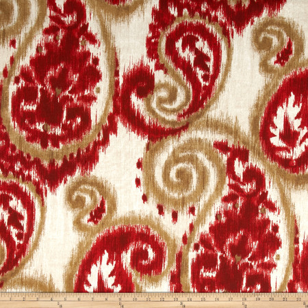 Richloom Solar Sorista Cherry Fabric By The Yard