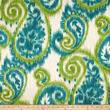 Richloom Solar Sorista Teal Fabric By The Yard