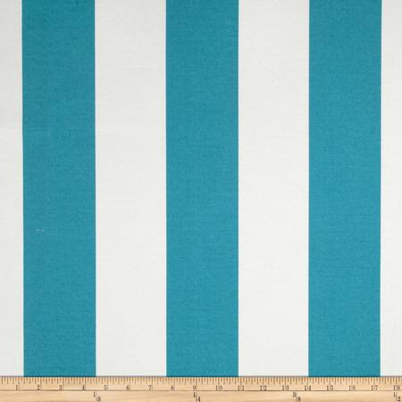 Richloom Solarium Outdoor Cabana Stripe Turquoise Fabric
