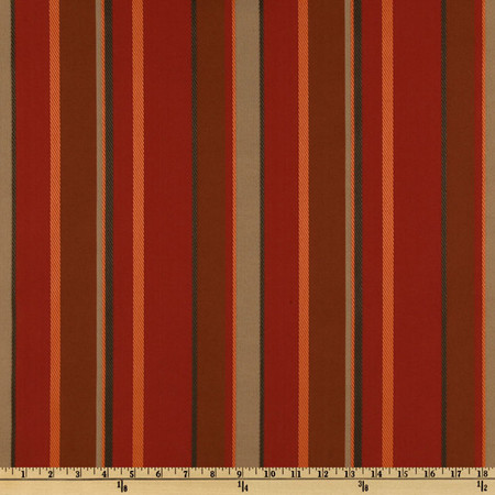 Richloom Solarium Outdoor Delmar Stripe Salsa Fabric