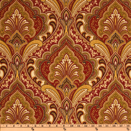 Richloom Solarium Outdoor Grovedale Paisley Spice Fabric