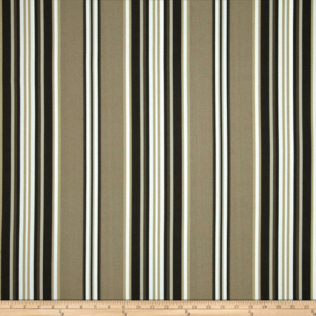 Richloom Solarium Outdoor Kasmira Stripe Driftwood Fabric