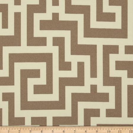 Richloom Solarium Outdoor Keyes Taupe Fabric
