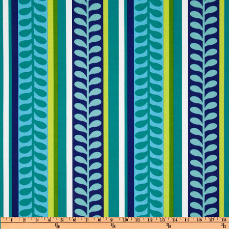 Richloom Solarium Outdoor Pike Stripe Azure Fabric