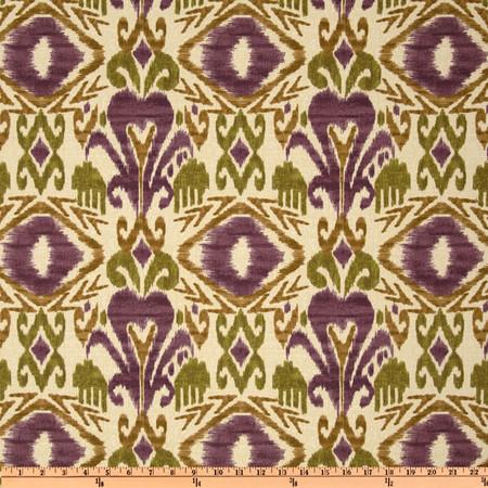 Richloom Solarium Outdoor Sumter Ikat Vineyard Fabric By The Yard