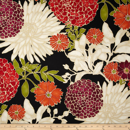 Richloom St. Moritz Floral Twill Red/Tribal Fabric