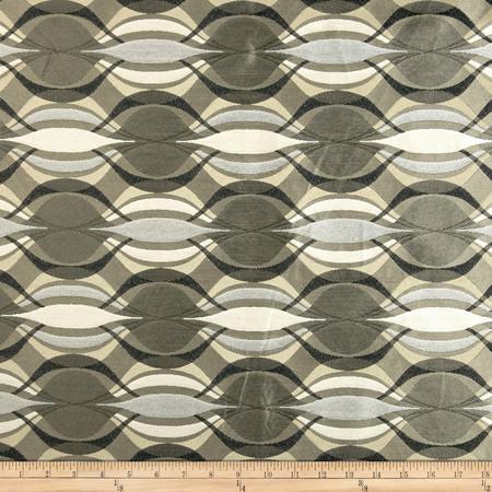 Richloom Togo Jacquard Silver Fabric