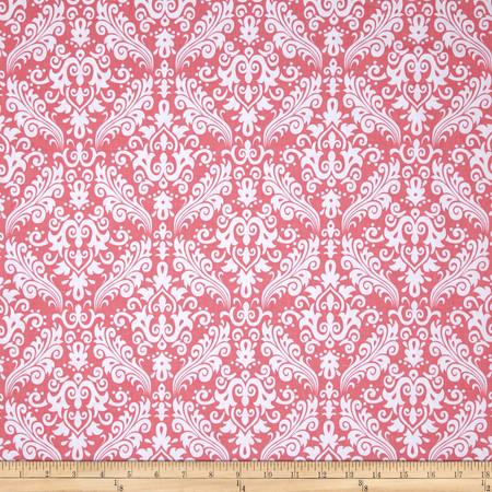 Riley Blake Basics Medium Damask Coral Fabric