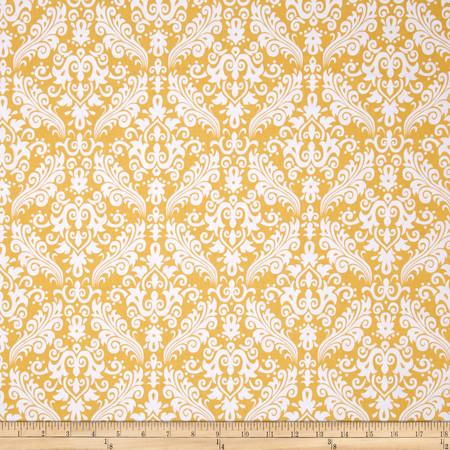 Riley Blake Basics Medium Damask Mustard Fabric