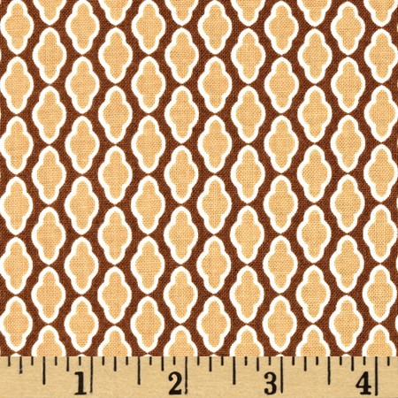 Riley Blake Chatsworth Medallion Brown Fabric By The Yard
