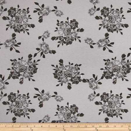 Riley Blake Cotton Jersey Knit Idle Wild Main Gray Fabric