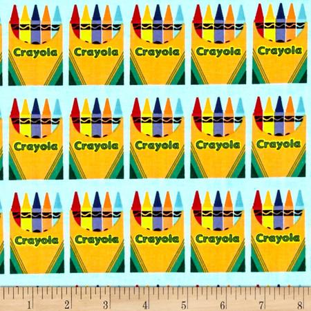 Riley Blake Crayola Box Blue Fabric By The Yard