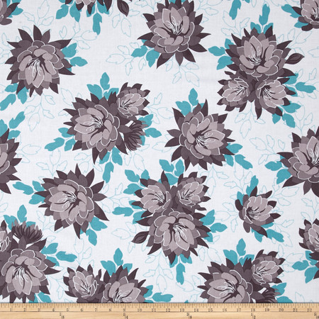 Riley Blake Desert Bloom Main Blue Fabric By The Yard