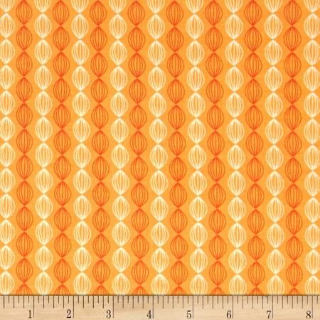 Riley Blake Dinosaur Stripe Orange Fabric