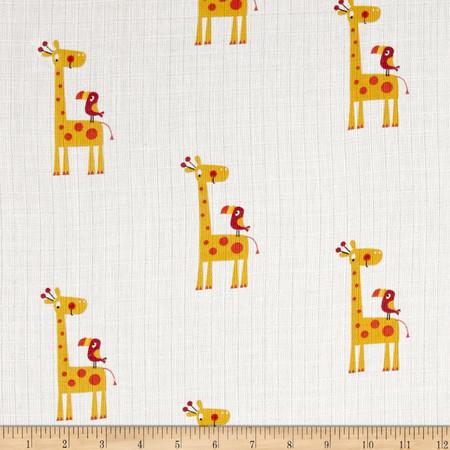 Riley Blake Double Gauze Giraffe Yellow Fabric By The Yard