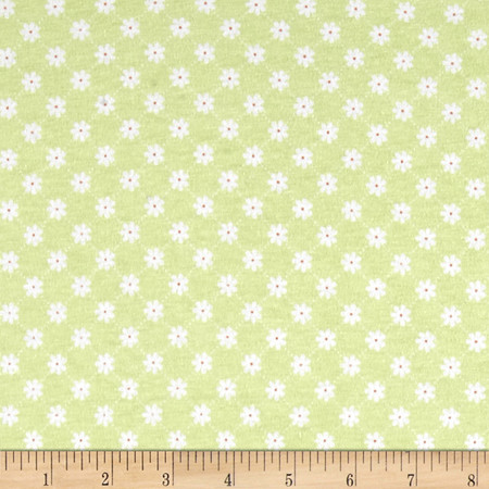 Riley Blake Dream and a Wish Jersey Knit Lattice Green Fabric By The Yard