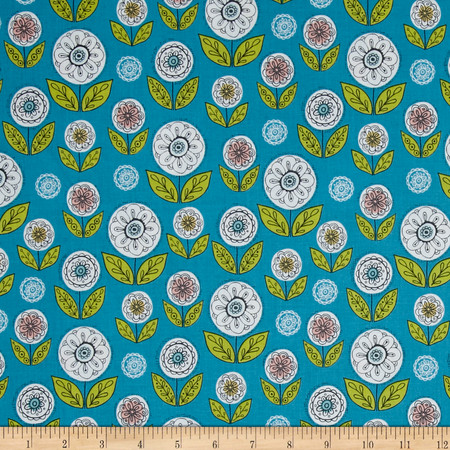 Riley Blake Dutch Treat Garden Blue Fabric By The Yard