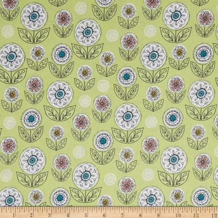 Riley Blake Dutch Treat Garden Green Fabric By The Yard